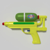 3d model of water pistol
