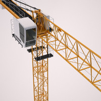 3d model tower crane liebherr ec-b