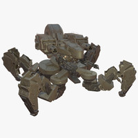 spider tank mech rigged 3d model