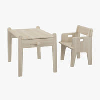 3d table chair hans j