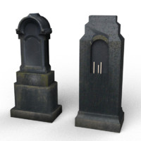 black tombstones 3d 3ds