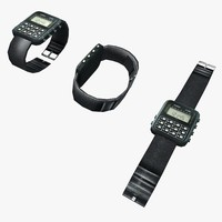 3d model casio wristwatch watch