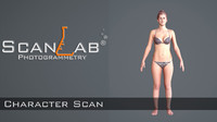 3d female body scan -