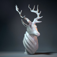 deer head 3d 3ds