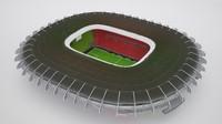 3d model footbal soccer stadium