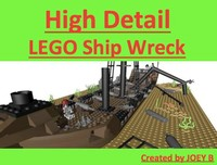 3d lego sunken pirate ship model