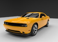 3d model of dodge challenger srt8