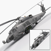 3d model sikorsky sh-60b seahawk military helicopter
