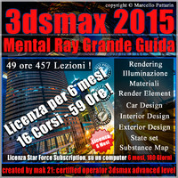 3ds max 2015 Mental Ray Grande Guida 6 Mesi Subscription