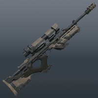 3d sniper rifle sci-fi model