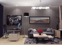 3d model business room scene