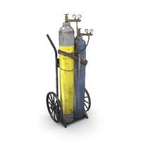 oxy-acetylene cart 3d lwo