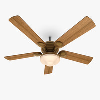 3d model ceiling fan lamp 4
