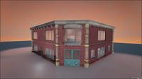 3d model corner house