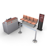 airport furniture pack 3d model