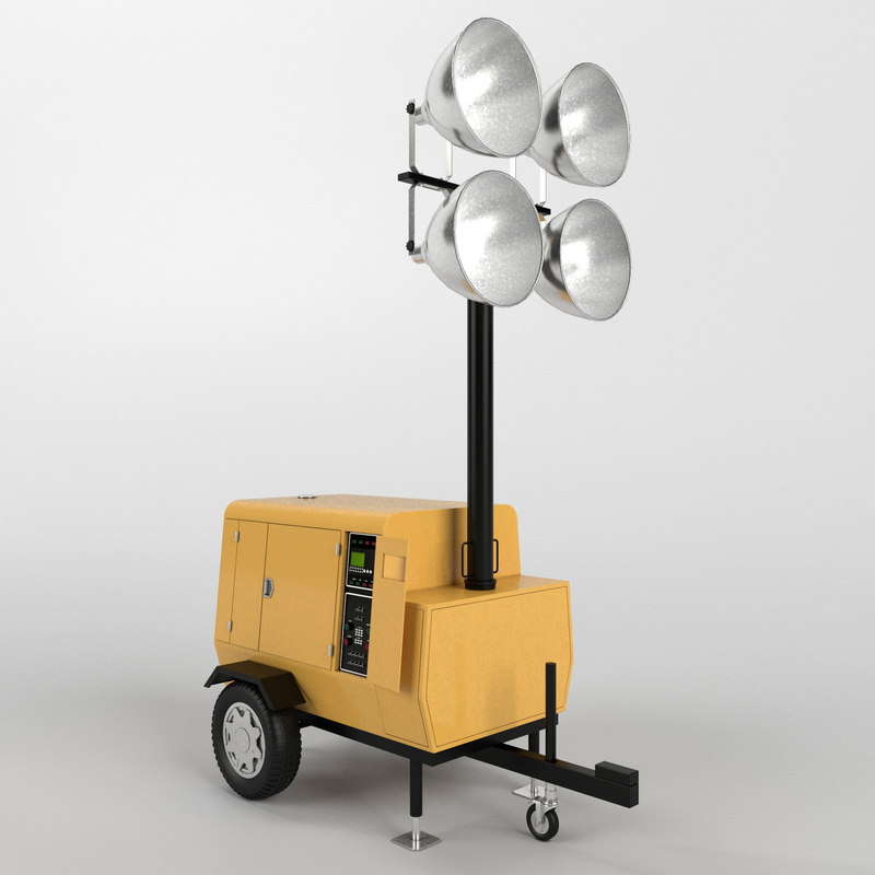 Tower Light Generator 3d Model