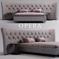 3d model bed opera butterfly