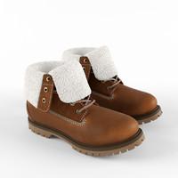 3d men roll-top boot model