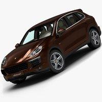 3d 2015 porsche cayenne diesel model