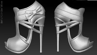 AngelRED Couture Bow Heels
