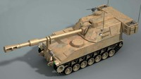 3d model of m109 artillery
