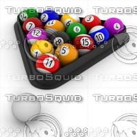 3d pool balls