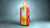 50 shell fuel pump 3d obj