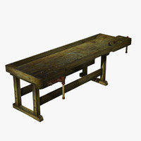 3d used workbench model
