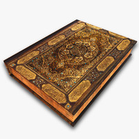 3d designs quran islamic holy model