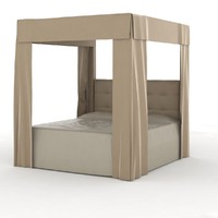 canopy bed 3d model