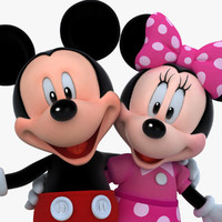 mickey minnie mouse 3d model
