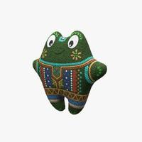 maya soft frog toy
