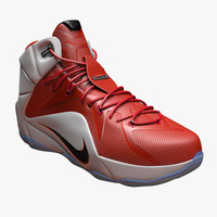 nike lebron 12 basketball shoe 3d c4d