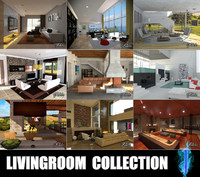 3d model livingrooms scenes