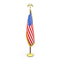 united states flag pack 3d model