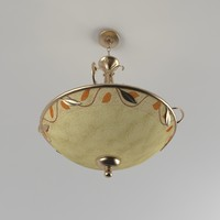 Dale Tiffany Garden Leaf Inverted Fixture Pendant