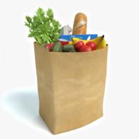 bag groceries 3d model