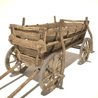 3d model of old cart v1