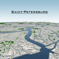 3d saint-petersburg cityscape model