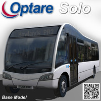 3d model optare solo bus left
