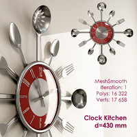 3ds max kitchen wall clock