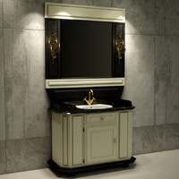 3d washbasin scene ready
