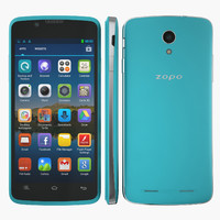 3d smartphone zopo zp590 blue model