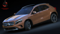 mercedes-benz gla 220 cdi 3d model