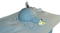 3d model igloo modelled