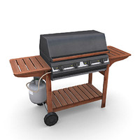 3d model gas barbeque