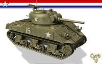 3d model of m4a3 tank