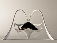 maya futuristic armchair