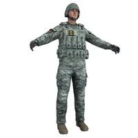 human military 3d max