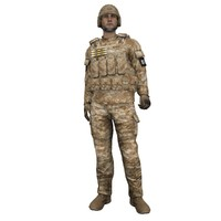 3d rigged soldier model